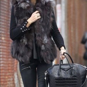Adrienne Landau V-neck Fox Fur Vest 🌹